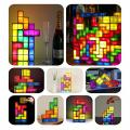 TACTBIT Rechargeable Tetris Retro Game Style Stackable Multi-color LED Lamp